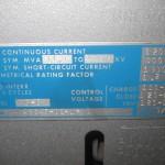 15HK500 ITE circuit breaker nameplate