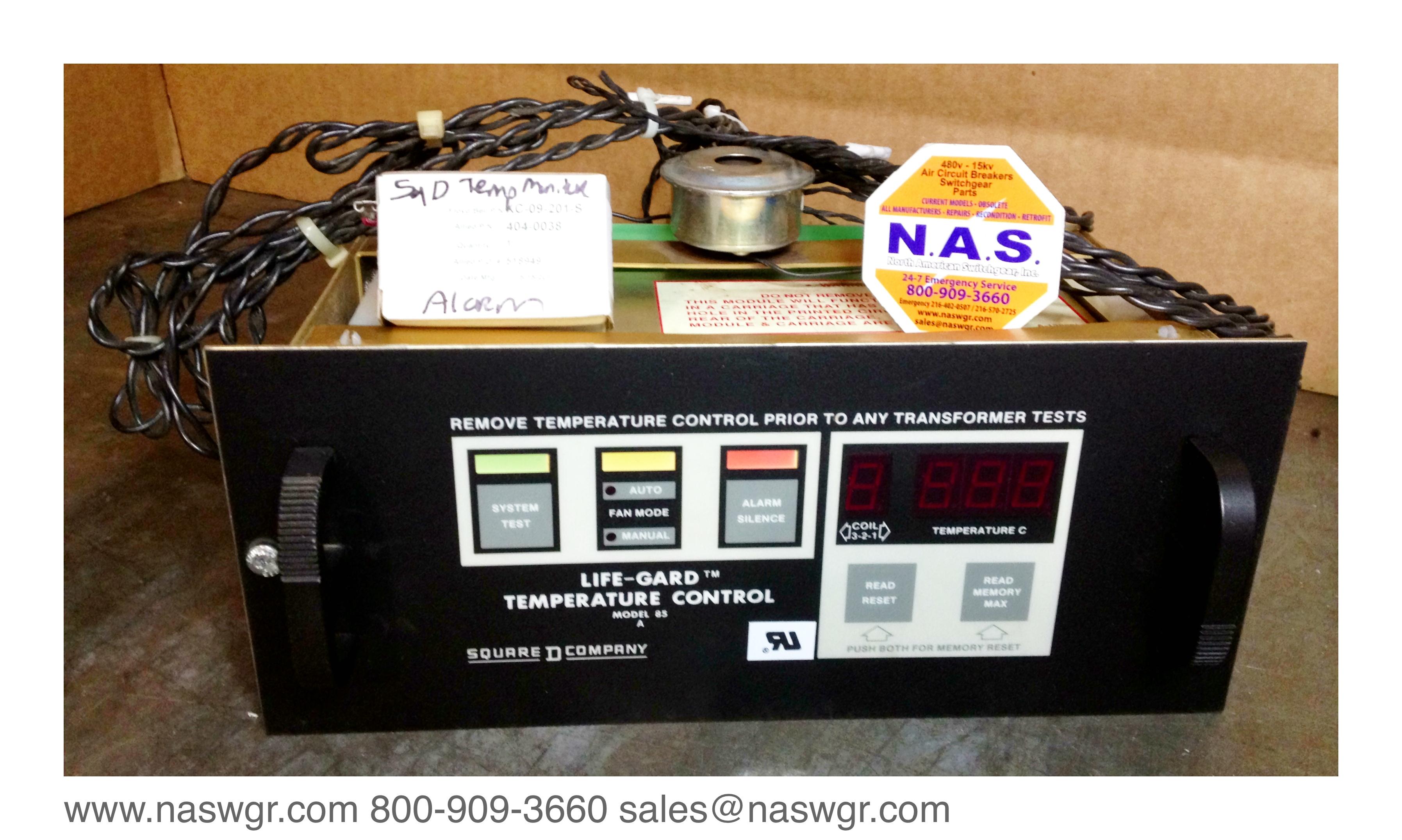 Square D Life Gard Temperature Control Model 85 A Square D Model 85A  #C99002