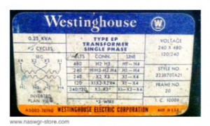 Westinghouse Transformer