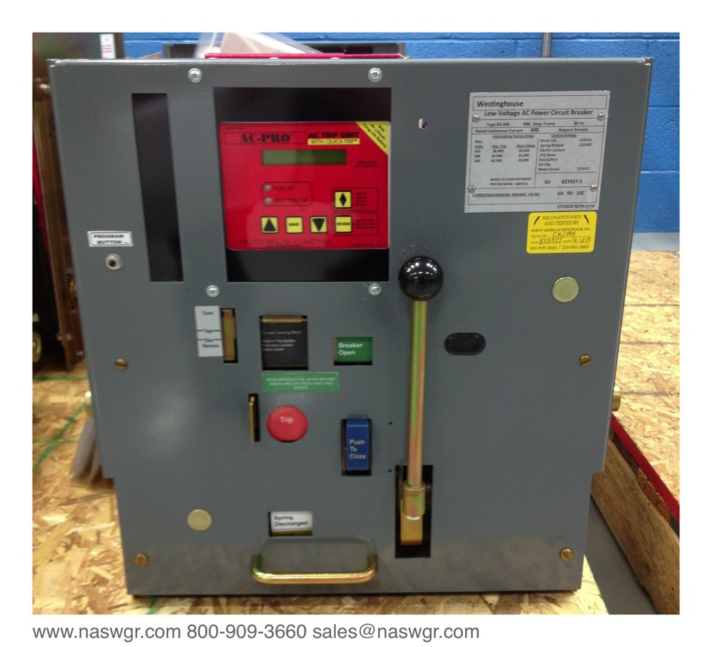 Ds 206 westinghouse ds 206 circuit breaker for Motor operated circuit breaker