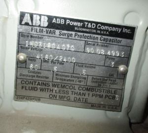 ABB 3PH 4160 2400 CAPACITOR NP