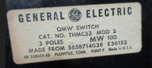 GE QMW SWITCH NP