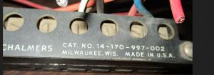 Allis Chalmers Type QMW terminal block Part #19-170-997-002 np