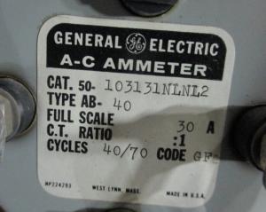 GE AB-40 30 AMP Meter NP