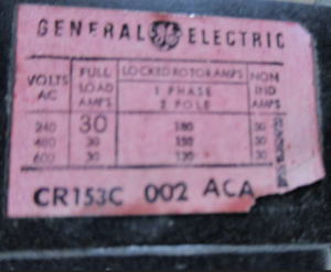 GE CR153 relay 30amp np