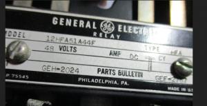 GE HFA relay 12HFA51A44F np