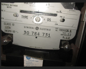 GE PolyPhase Watthour Meter DS63 700X63G1 np