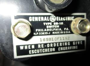 GE SB10 Voltmeter Switch 16SB1CF11x2 np