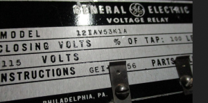GE type IAV model 12IAV53K1A np