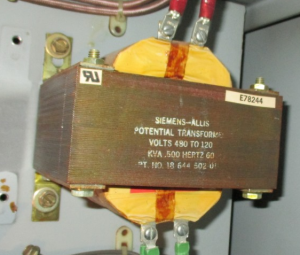 Siemens allis PT .5kva 480 to120 !ph