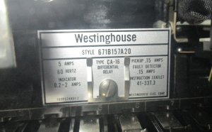 Westinghouse CA-16 Differential Relay style #671B157A20 np PNG