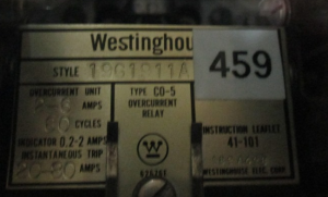 Westinghouse CO-5 Style 19611A