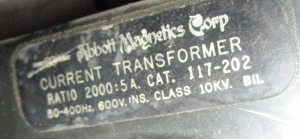 Abbott Magnetics Doughnut Current Transformer 2000-5 np