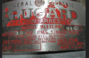 GE Alugard Station Arrestor 9L112AB-015 np