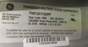 GE Cat#THE120Y150PP Transiant Voltage Surge Suppressor np