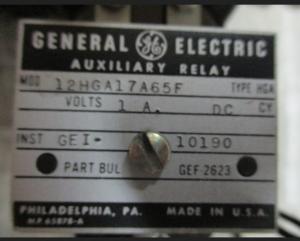 GE HGA 12HGA17A65F np