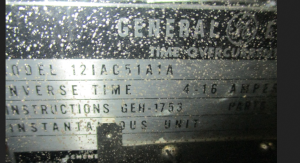 GE Type IAC 12IAC51A1A Time Overcurrent Relay np