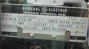 GE Type IJD Percentage Differential Relay np