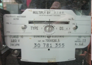 GE Type Polyphase Watthour Meter NP