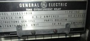 GE type IAC 12IAC51B3A np