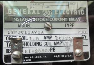 GE type PJC 12PJC11AV1A np