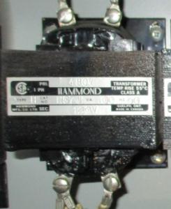 Hammond Type H cat HG7J 480-120 Transformer FV