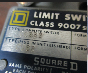 Square D WLI limit switch 062B2 np