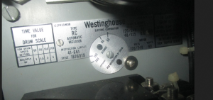 Westinghouse Type RC Auotomatic Recloser Relay Style 1876019 np