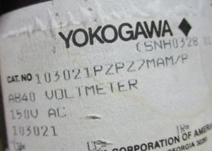 Yokogawa Type AB-40 Cat # 103021PZPZ7MAM P