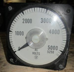 Yokogawa Type AB-40 Cat # 103021PZPZ7MAM P Volt Meter FV